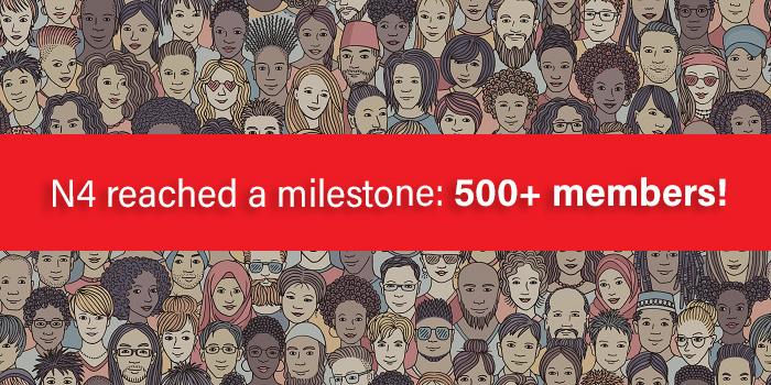 N4 reached a milestone: 500+ members!