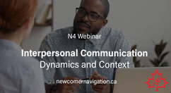 Upcoming N4 Webinar: Interpersonal Communication : Dynamics and Context