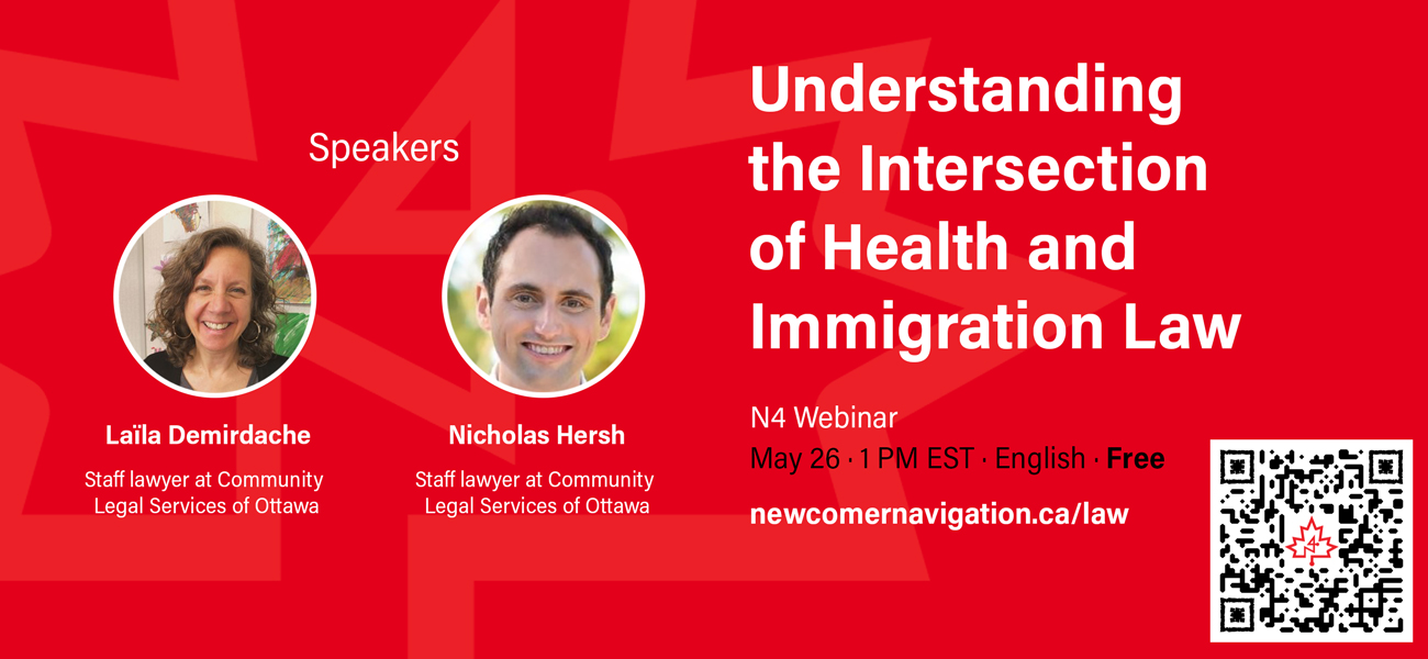 Understanding the Intersection of Health and Immigration Law - May 26 - 1 PM - English - Free